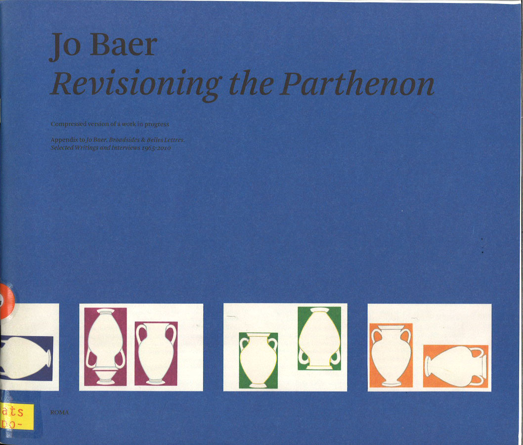 Jo Baer: Revisioning the Parthenon