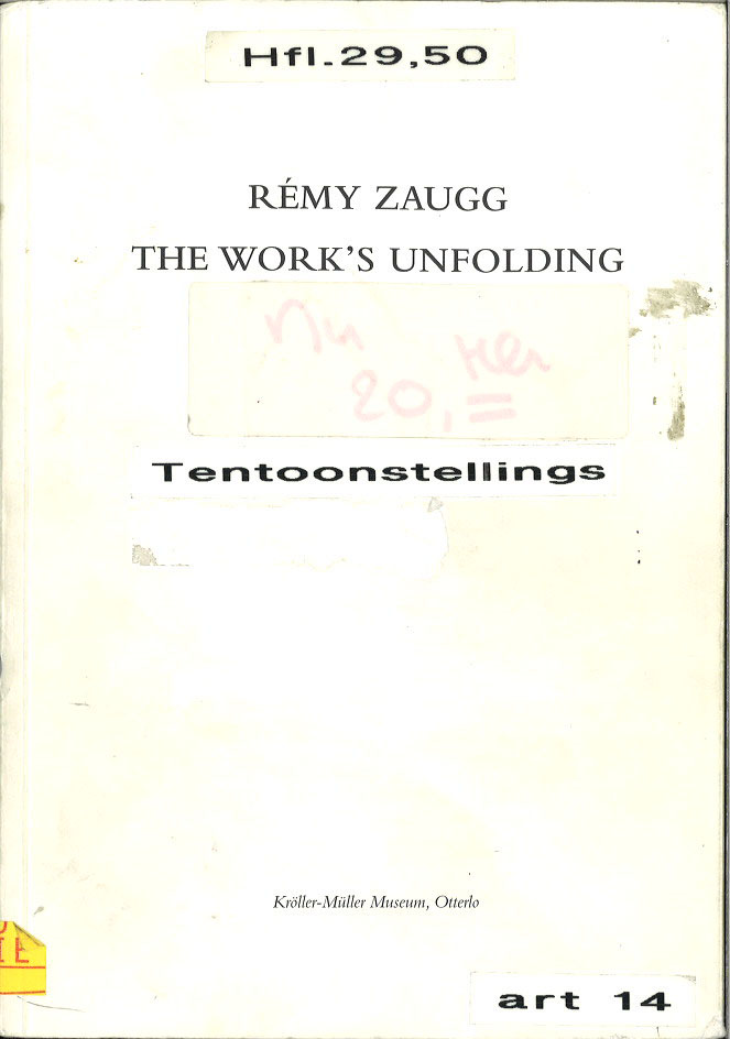 Rémy Zaugg The Work's Unfolding