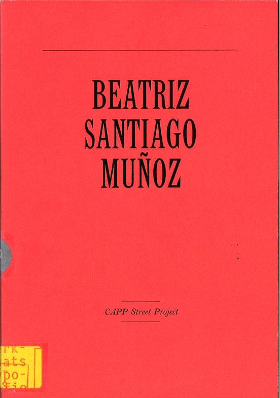 Capp Street Project: Beatriz Santiago Munoz