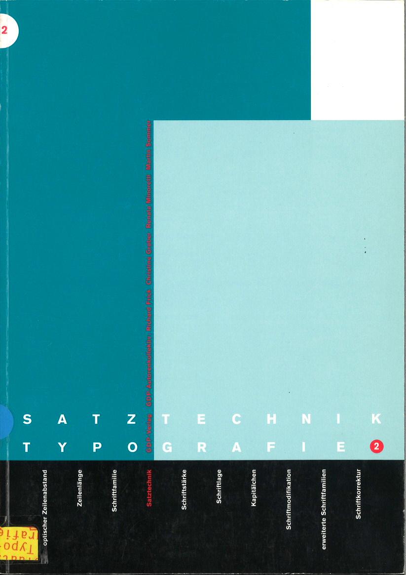 Satztechnik und Typografie / Typografische Grundlagen: BD 1