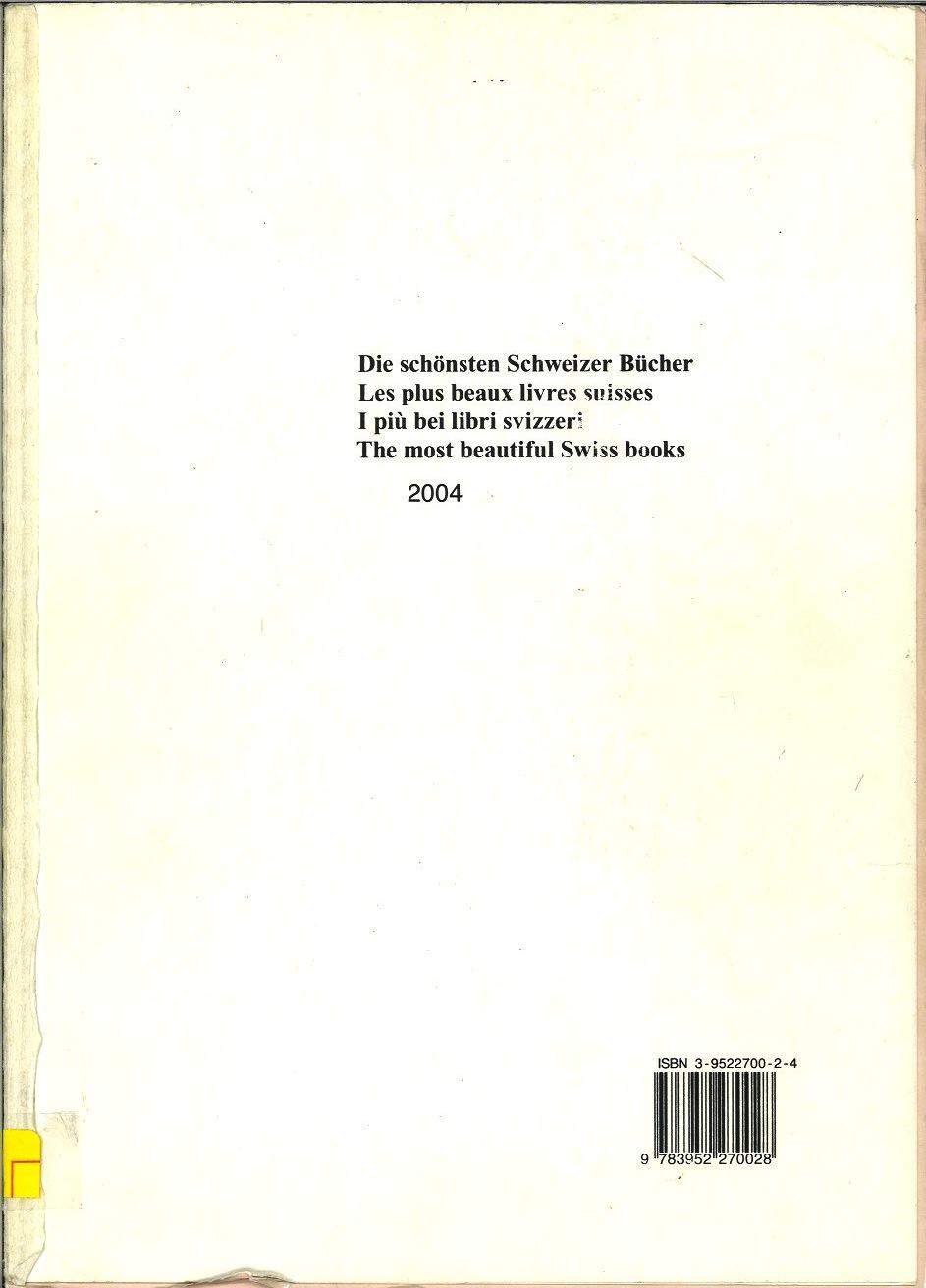 The most beautiful Swiss books. 2004