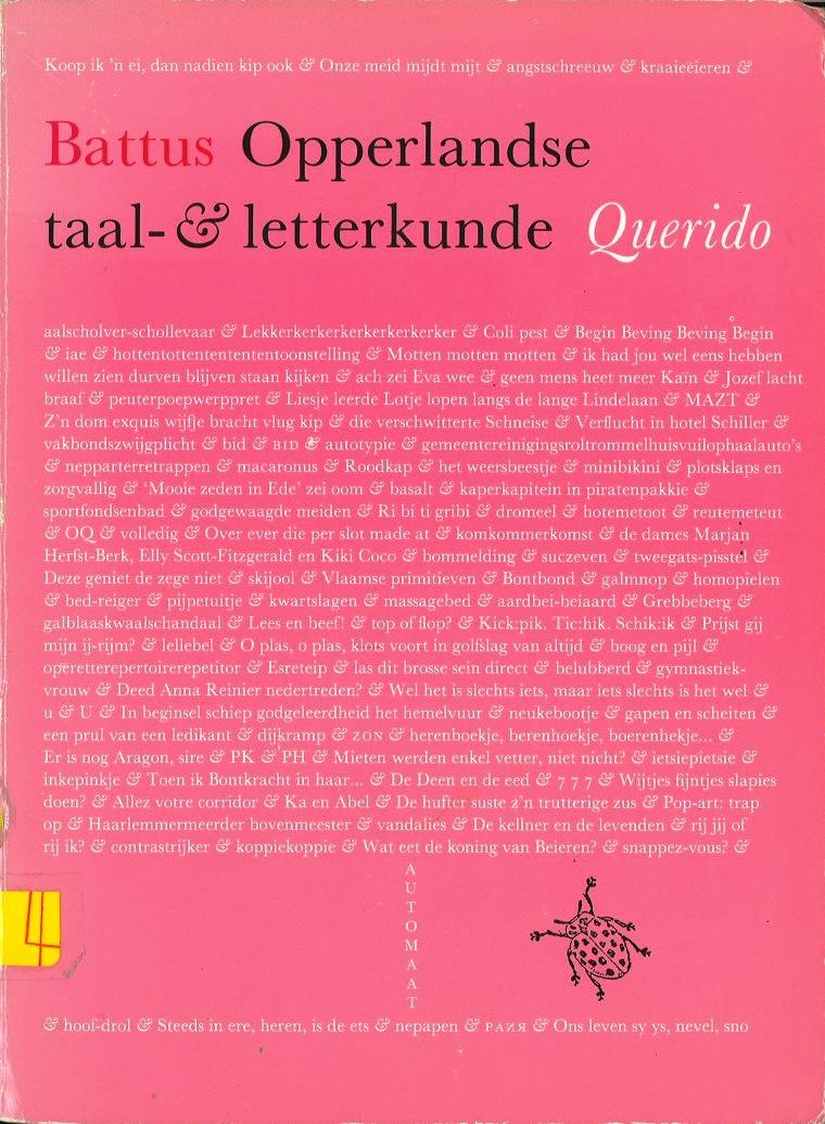 Opperlandse taal-& letterkunde