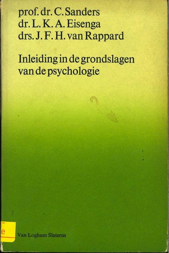 Inleiding in de grondslagen van de psychologie (Psychologische monografieen) (Dutch Edition)