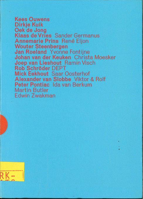 De Kunstprijzen Amsterdam 1998