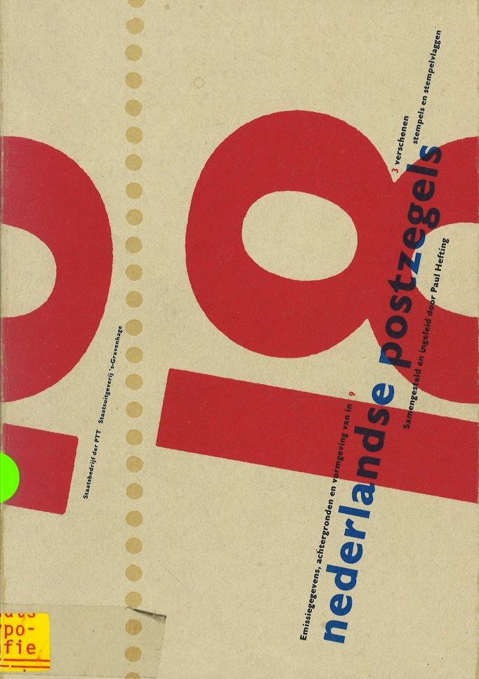 Postzegel : achtergronden, emissiegegevens en vormgeving (Nederlandse Postzegels 1988)