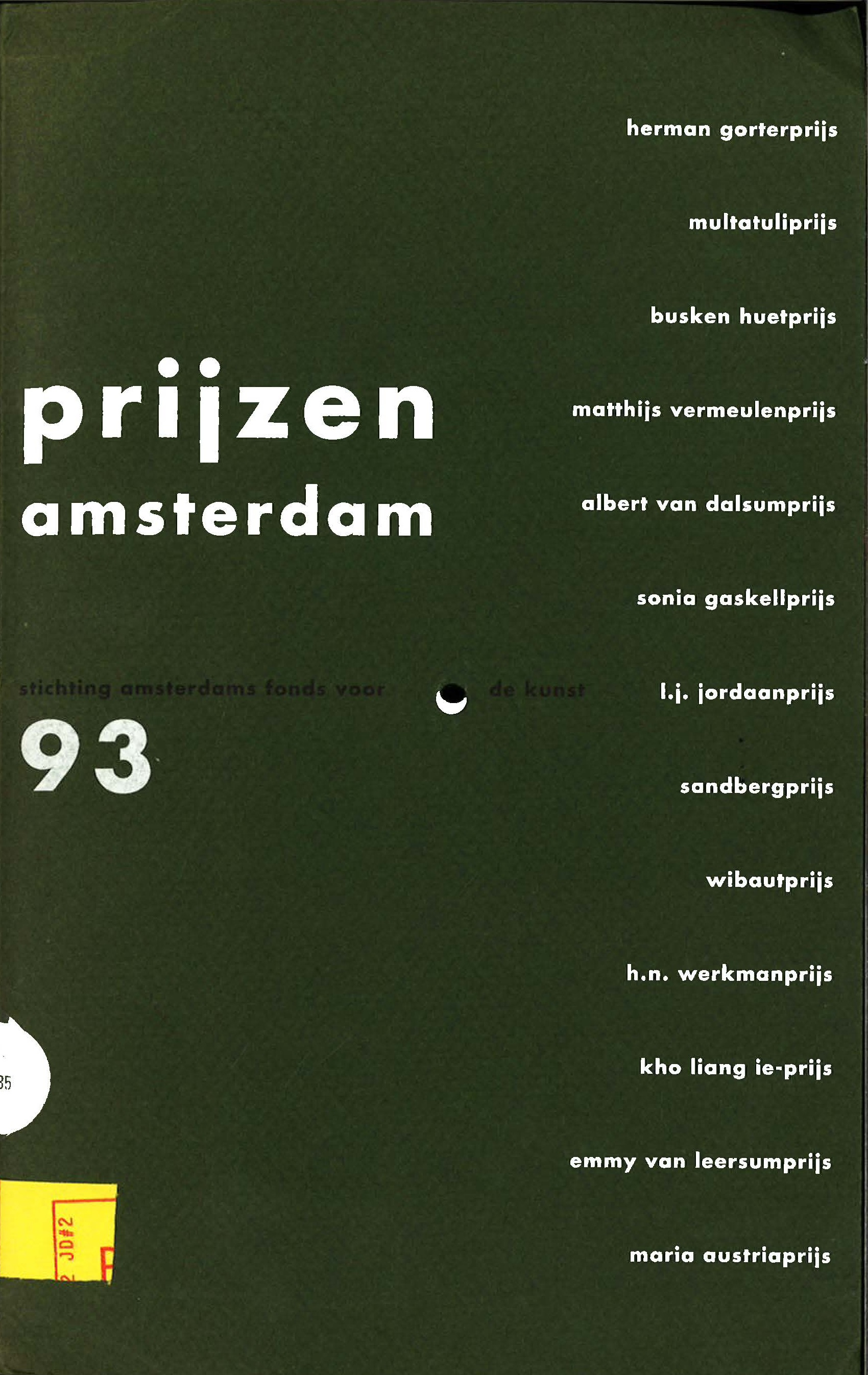 De Kunst Prijzen Amsterdam 1993