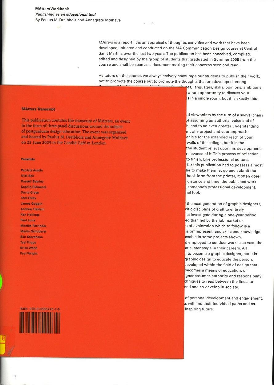 Matters: A Report on Postgraduate Design Education