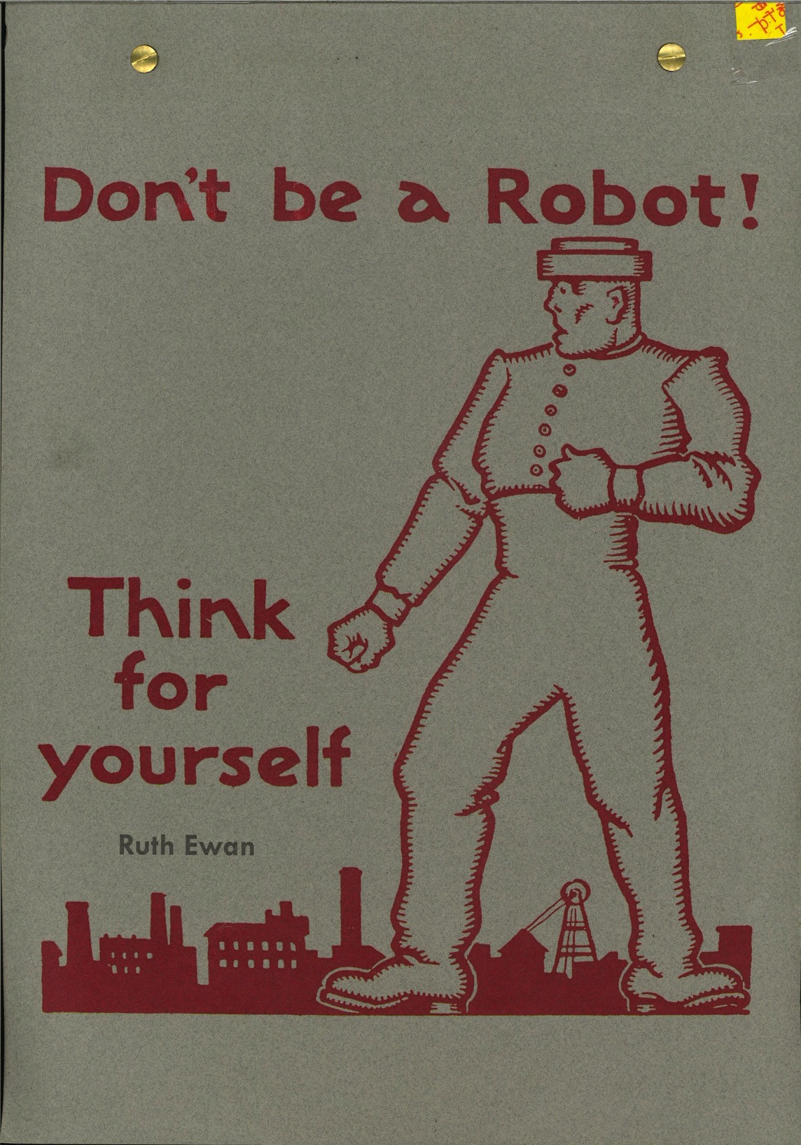 Don't be a Robot! Think for yourself
