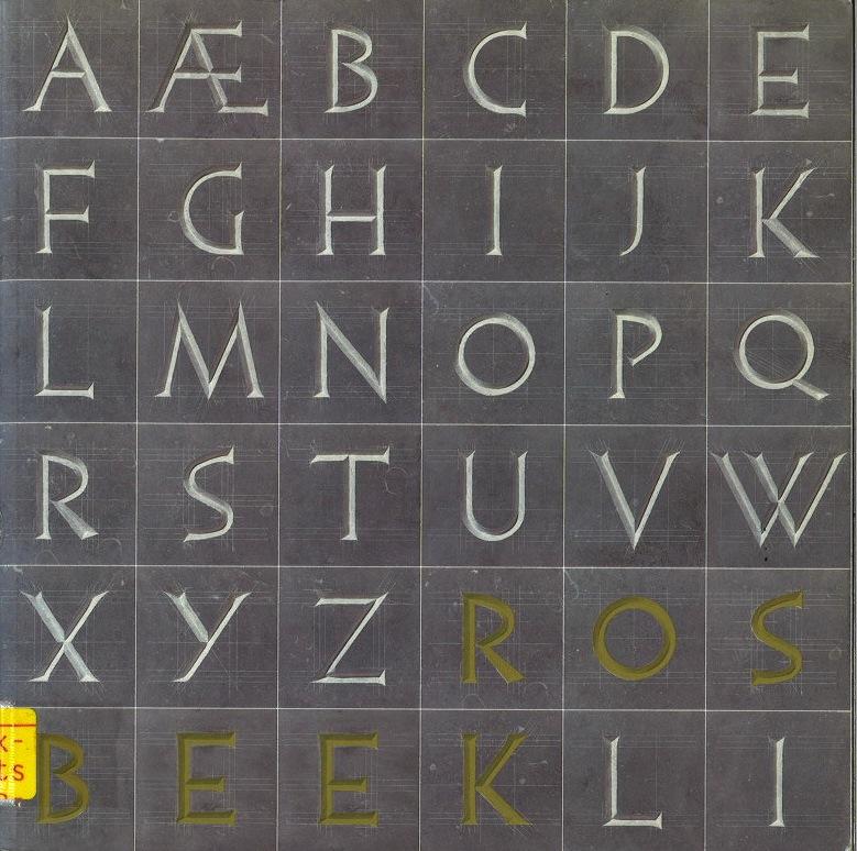 Alfabet in steen