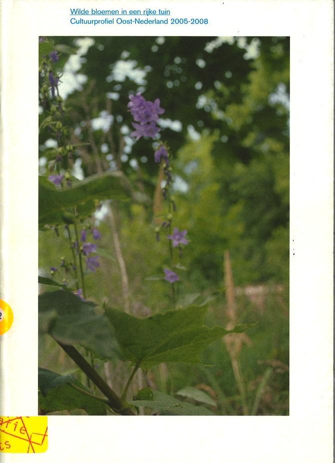Wilde Bloemen in een Rijk Tuin: Cultuurprofiel Oost-Nederland 2005-2008