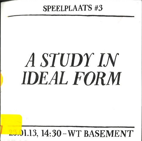 Speelplaats #3: A Study in Ideal Form