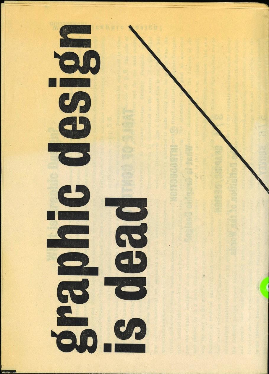 Trend List: Graphic Design is Dead / Long Live Graphic Design (Slash)