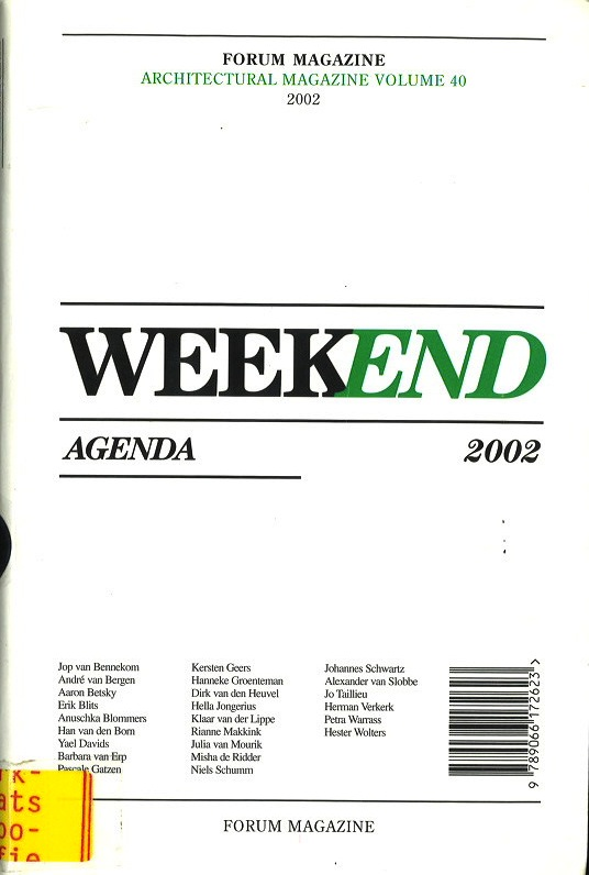FORUM Magazine: Weekend Agenda 2002, vol. 40