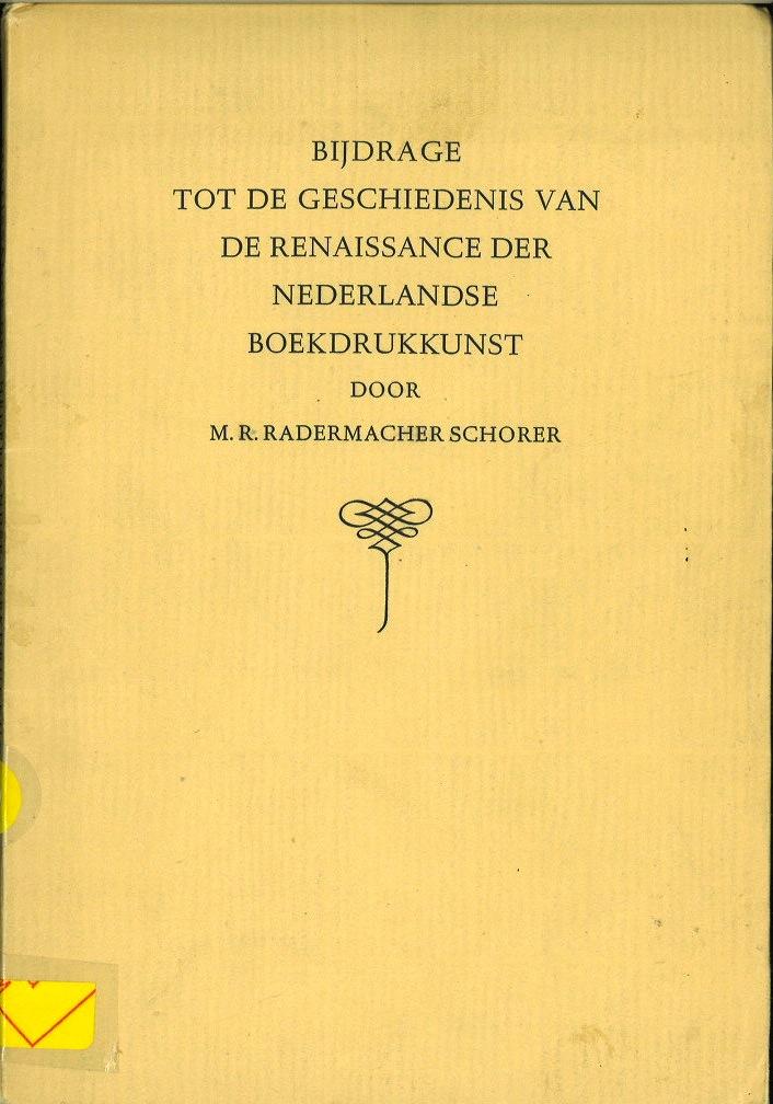 Renaissance Der Nederlandse Boekdrukkunst
