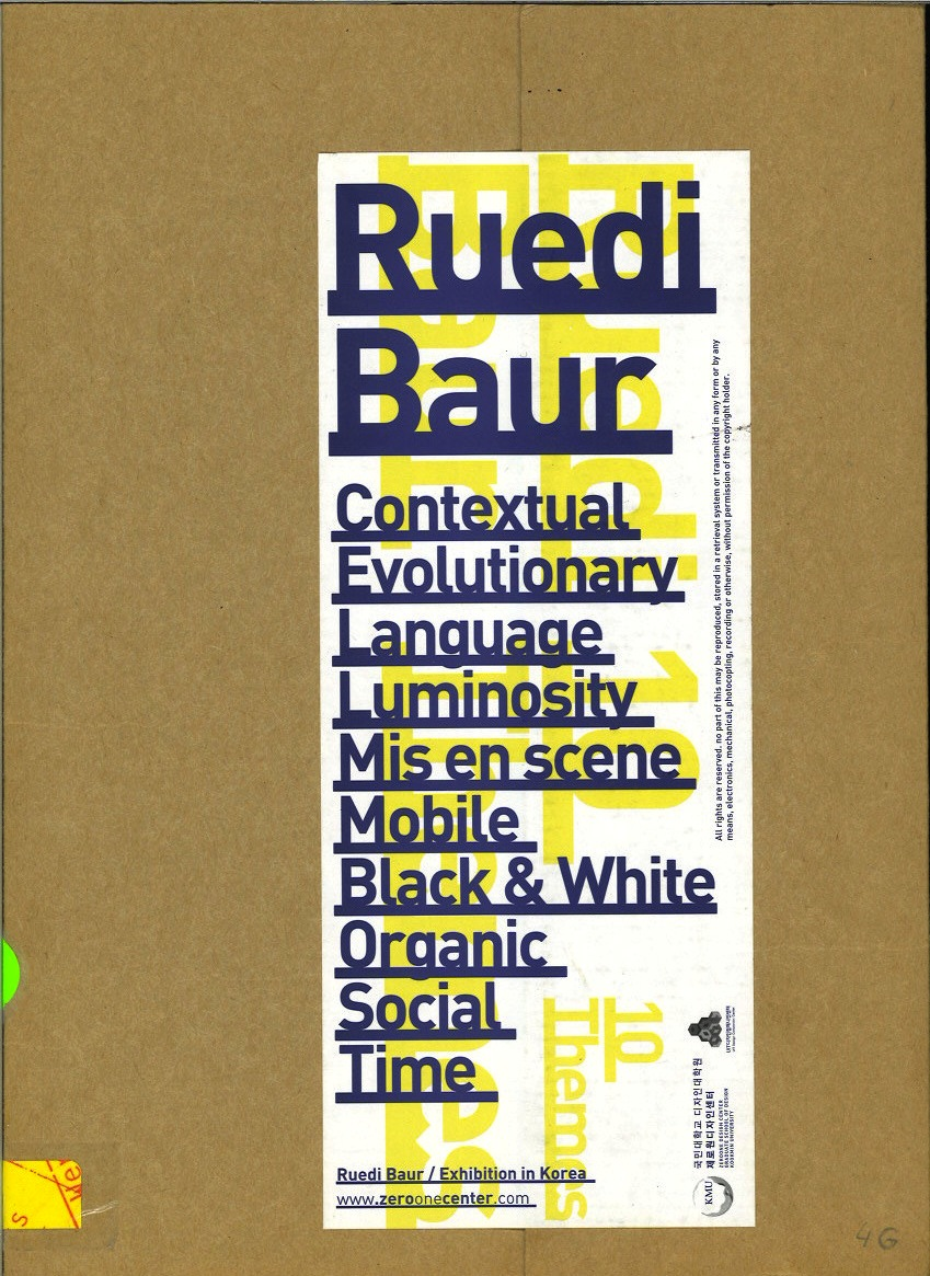 Ruedi Baur: Exhibition in Korea