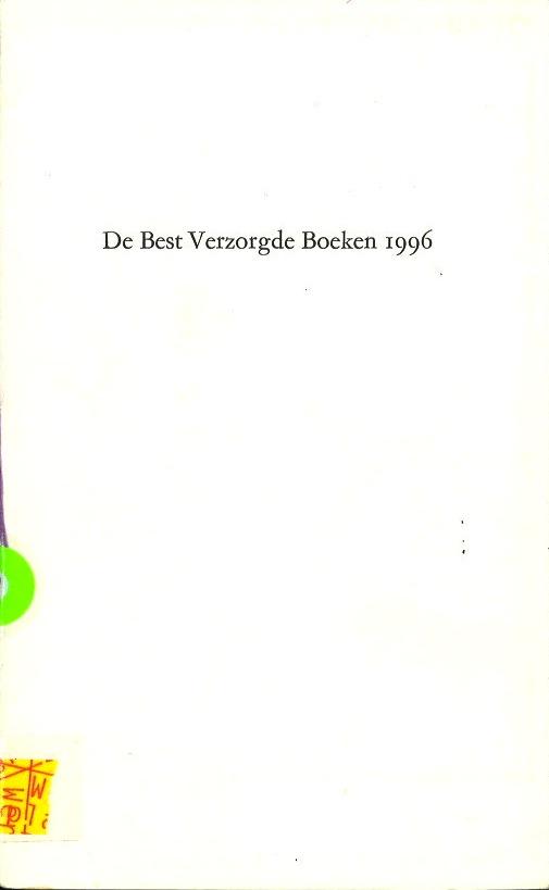 Oorkonde, best verzorgde boeken 1996