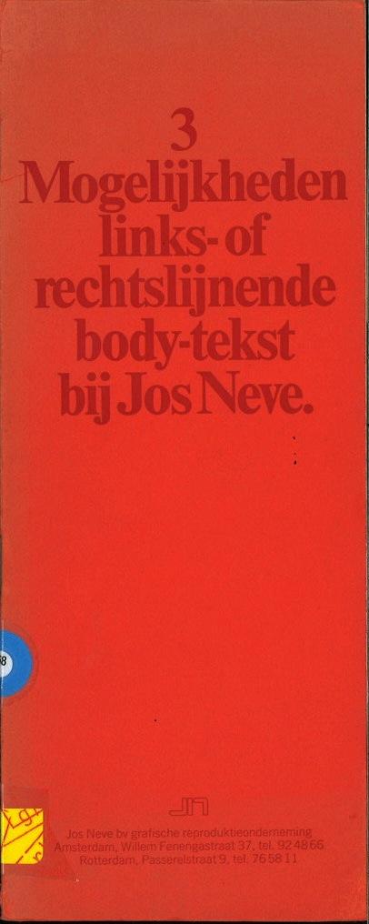 3 Mogenlijkheden links-of rechtslijnende body-tekst bij Jos Neve.
