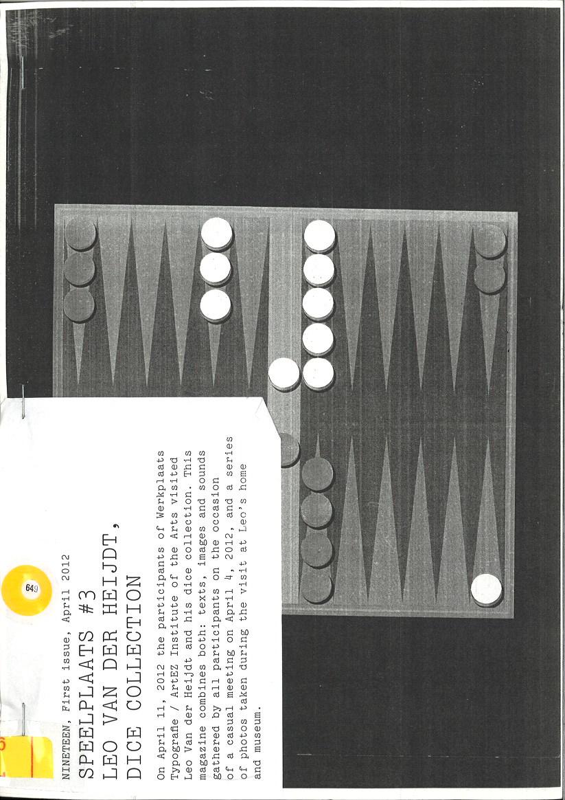 Speelplaats #3, Leo Van der Heijdt, Dice Collection
