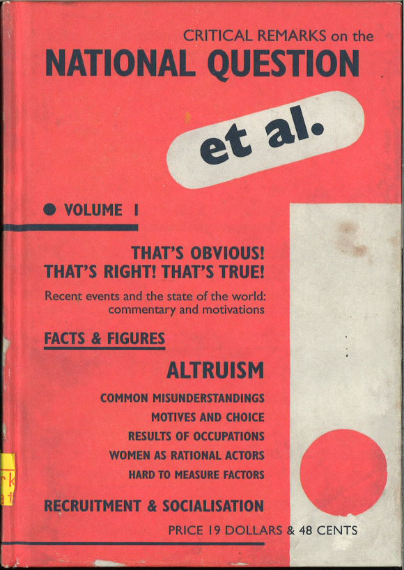 et al. That's obvious! That's right! That's true